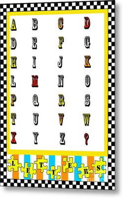 Juvenile Alphabet Licensing Art Metal Print by Anahi DeCanio