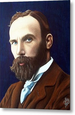 Metal Print featuring the drawing J.w. Waterhouse by Danielle R T Haney