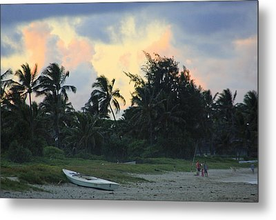 Kailua Beach Sunset Metal Print