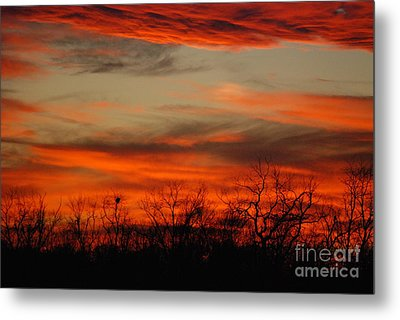 Metal Print featuring the photograph Kansas Sunset by Mark McReynolds