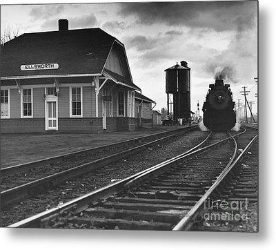 Kansas Train Station Metal Print by Myron Wood and Photo Researchers