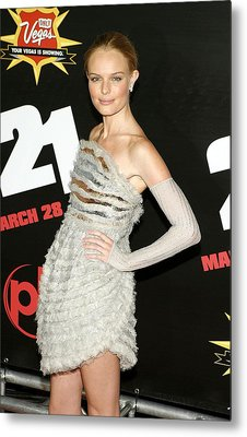 Kate Bosworth  Wearing A Chanel Couture Metal Print by Everett