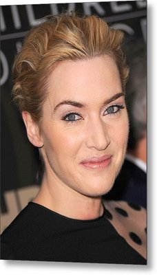 Kate Winslet At Arrivals For Mildred Metal Print by Everett