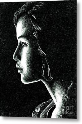 Katniss Everdeen Metal Print by Crystal Rosene