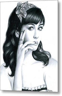 Katy Perry Metal Print by Crystal Rosene