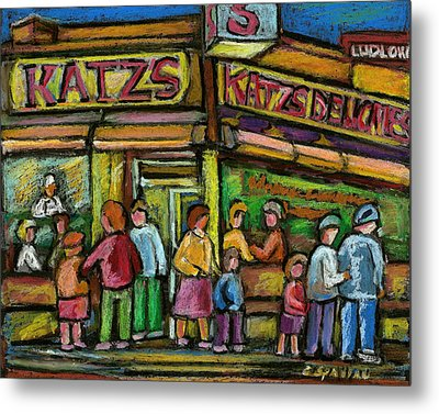 Katz's Houston Street Deli Metal Print by Carole Spandau