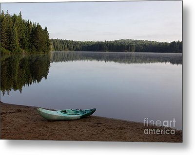 Kayak On Pog Lake Metal Print by Chris Hill
