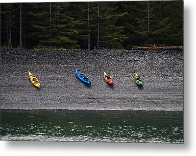 Kayak Shore Metal Print