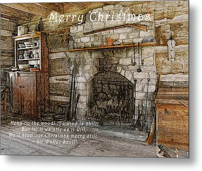 Keep Christmas Merry Metal Print by Michael Peychich