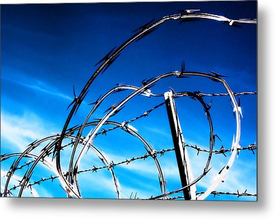 Keep Out Metal Print by Wendy White
