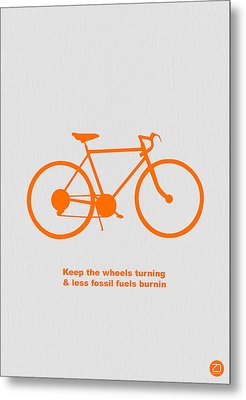 Keep The Wheels Turning Metal Print by Naxart Studio