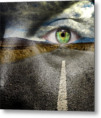 Keep Your Eyes On The Road Metal Print by Semmick Photo