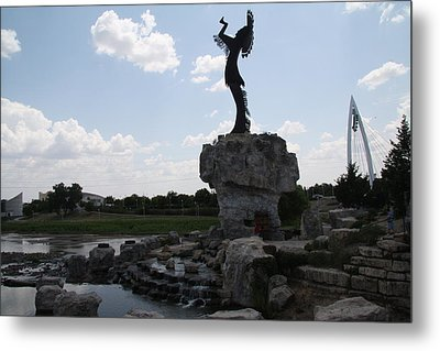 Keeper Of The Plains Fel Metal Print by Travianno
