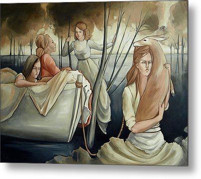 Keeping Afloat Metal Print by Jacque Hudson