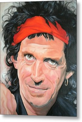 Keith Richards Metal Print by Timothe Winstead