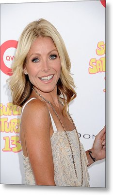 Kelly Ripa In Attendance For Super Metal Print by Everett