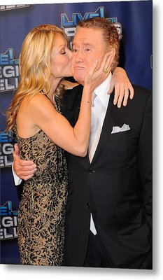 Kelly Ripa, Regis Philbin, Pose Metal Print by Everett