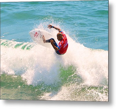Kelly Slater Us Open Of Surfing 2012     8 Metal Print by Jason Waugh