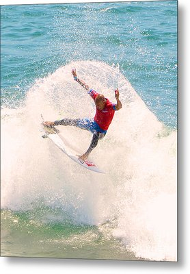 Kelly Slater Us Open Of Surfing 2012   2 Metal Print by Jason Waugh