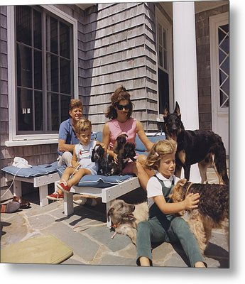 Kennedy Family And Their Many Dogs Metal Print by Everett