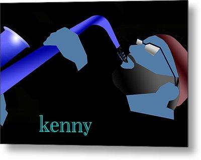 Kenny Garrett Blue Metal Print by Victor Bailey