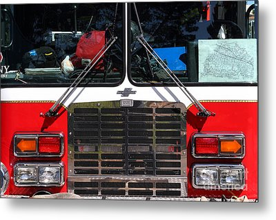 Kensington Fire District Fire Engine . 7d15861 Metal Print by Wingsdomain Art and Photography
