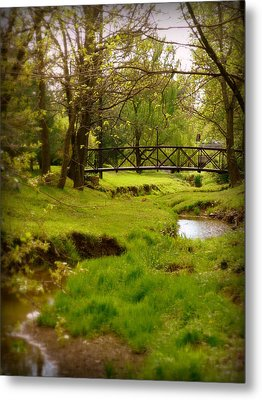 Kentucky Bridge Metal Print by Cindy Wright