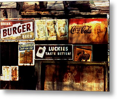 Metal Print featuring the photograph Kentucky Shed Ad Signs by Tom Wurl