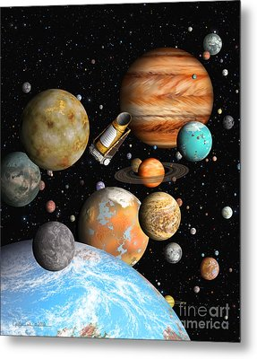 Kepler's Worlds Metal Print by Lynette Cook