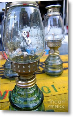 Kerosene Lamps Metal Print by Yali Shi