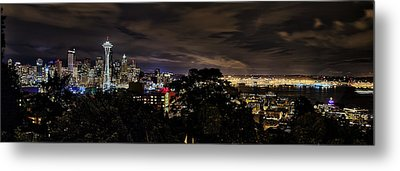 Kerry Park Night View Metal Print