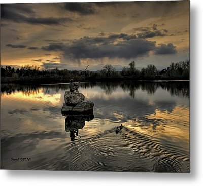 Ketring Lake Sunset Metal Print