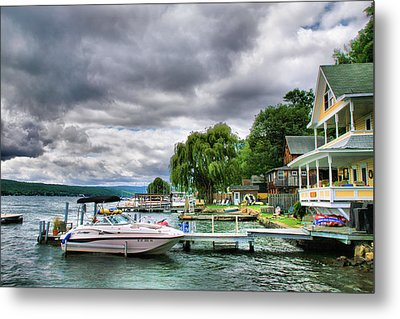 Keuka Lake Shoreline Metal Print by Steven Ainsworth