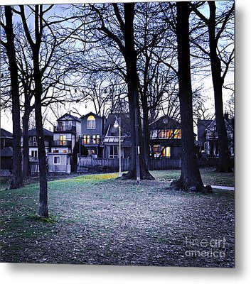 Kew Park At Dusk Metal Print by Elena Elisseeva