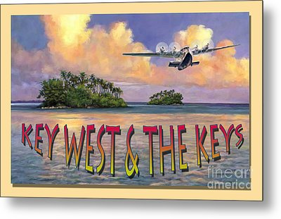 Key West Air Force Metal Print by David  Van Hulst