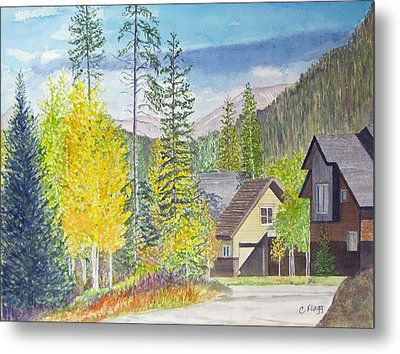 Metal Print featuring the painting Keystone Co by Carol Flagg