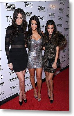 Khloe Kardashian, Kim Kardashian Metal Print by Everett