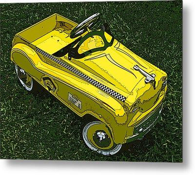 Kid's Pedal Car Taxi Metal Print by Samuel Sheats