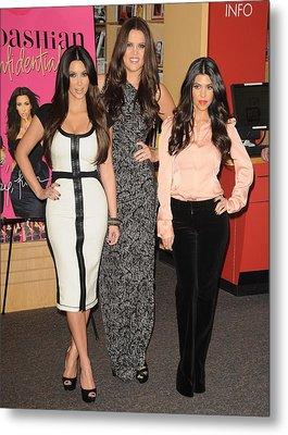 Kim Kardashian, Khloe Kardashian Metal Print