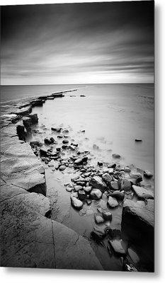 Kimmeridge Bay Metal Print by Nina Papiorek