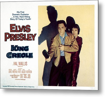 King Creole, Elvis Presley, Carolyn Metal Print by Everett