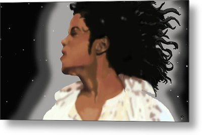 King Of Pop King Of The Universe Metal Print by Diva Jackson