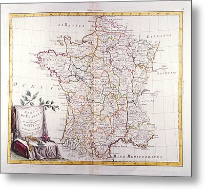 Kingdom Of France Divided Into Its Governments Metal Print by Fototeca Storica Nazionale