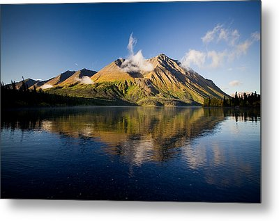 Kings Throne Mountain And Kathleen Metal Print by John Sylvester