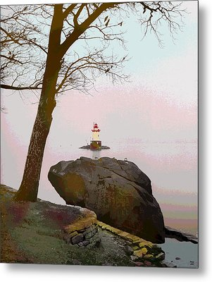 Kingsland Point Park Lighthouse Metal Print by Charles Shoup