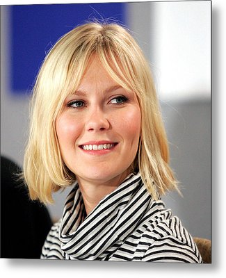 Kirsten Dunst At The Press Conference Metal Print by Everett