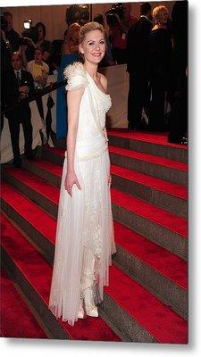 Kirsten Dunst  Wearing A Dress Metal Print by Everett