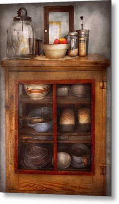 Kitchen - The Cooling Cabinet Metal Print by Mike Savad