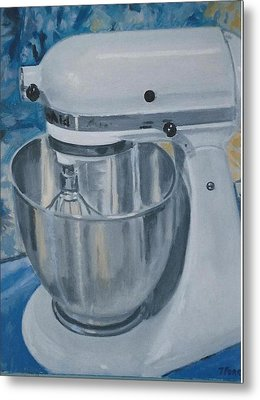Kitchen Mixer Metal Print by Terry Forrest