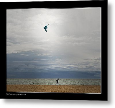 Metal Print featuring the photograph Kite In The Sky by Pedro L Gili